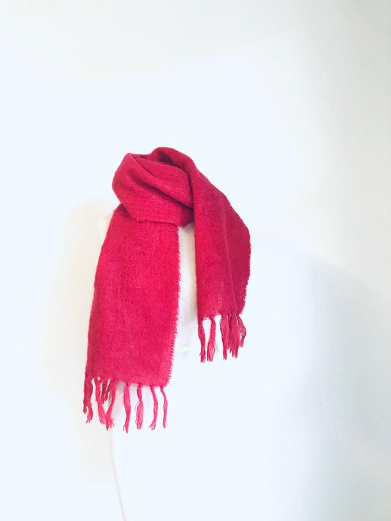 Pink mohair scarf vintage mohair scarf vintage woo