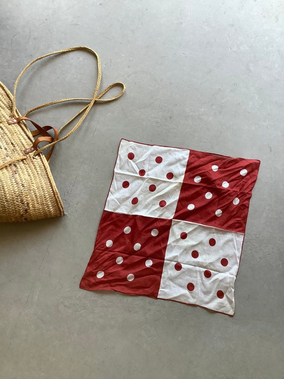 Vintage polkadot bandana red bandana graphic banda