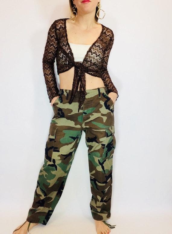 Vintage camo pants vintage military pants size M c