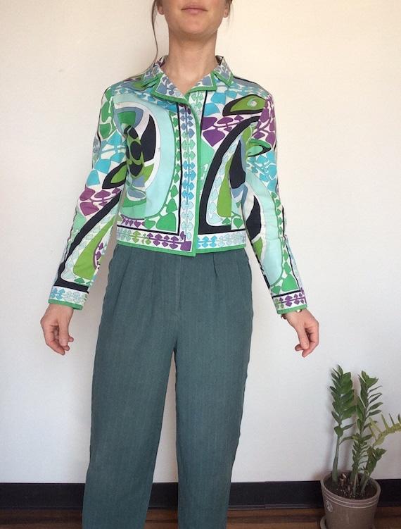 Vintage Emilio Pucci jacket Pucci Cropped jacket … - image 7