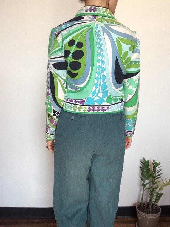 Vintage Emilio Pucci jacket Pucci Cropped jacket … - image 4