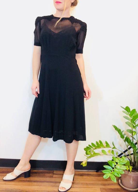 30s Black dress vintage 30s dress vintage black sh