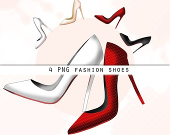 Fashion shoes clipart