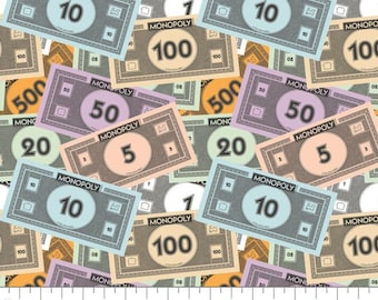 Hasbro ~ Monopoly Money 100/% Cotton Fabric Camelot Fabrics