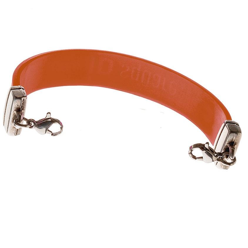 Orange Silicone Medical Alert Bracelet