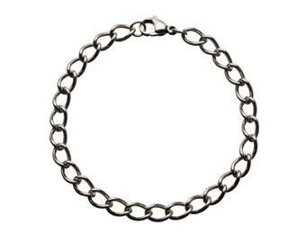 "Classic Stainless Bracelet for Charms for ""Snap-On"" Charms"