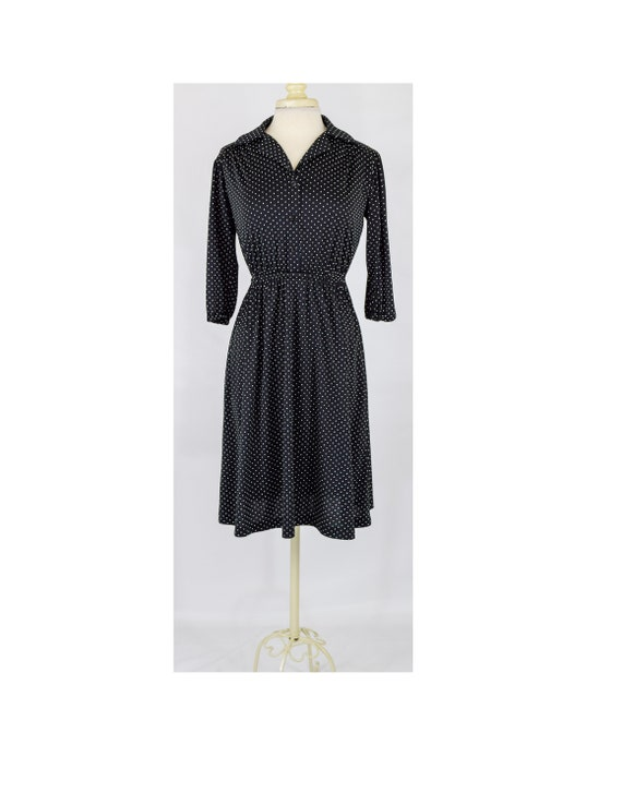 Vintage 80s Dress | 80s Meets 50s Black and