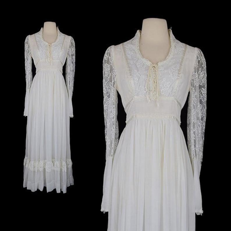 e82cc240baa Vintage Gunne Sax Jessica Mcclintock Bohemian Wedding Dress
