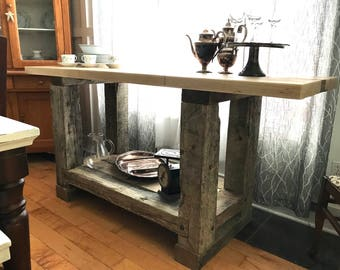 Industrial Rustic Kitchen Island Or Entertainment Center