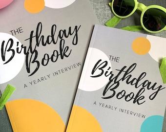 Birthday Interview Book- Yearly Birthday questions- kids birthday gift - birthday keepsake