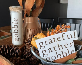 Thanksgiving Table decor- fall words decal bundle - fall decorations