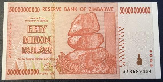 Zimbabwe 20 Trillion Dollar $ AUNC 2008 AA Banknote//LIMITED TIME