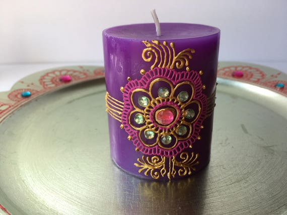 Scented Henna Candle Etsy