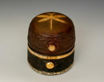 "Raku Pottery ""Dragonfly Treasure Box"", A Raku Treasure Box to Hold Your Jewelry, Your Mementos, Your Hopes and Dreams, A Perfect Gift"