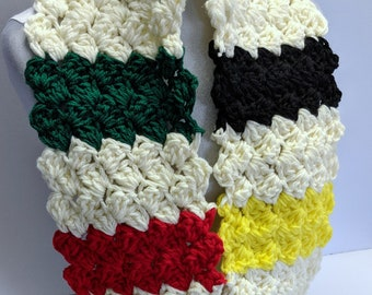 XL Scarf Canadiana Colors, Classic Canadian Thick Winter Scarf Extra Long Infinity Scarf Versatile Blanket Scarf Ready to Ship Now