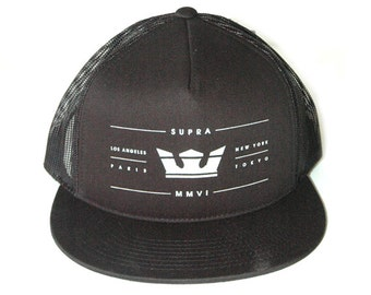 7c7435bb Limited edition Supra Black Trucker snapback