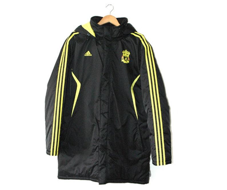 90b7fa312 Retro Adidas Liverpool parker coat   Etsy
