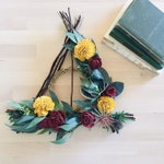 Deathly Hallows Inspired Wreath Pick your colors! || Gryffindor || Wreath || Wall Art || Nursery Decor || Harry Potter || Ravenclaw