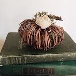 Floral Grapevine Pumpkins  Pick your colors || Rustic Pumpkin || Fall Decor || Teired Tray Decor || Autumn || Farmhouse Decor ||