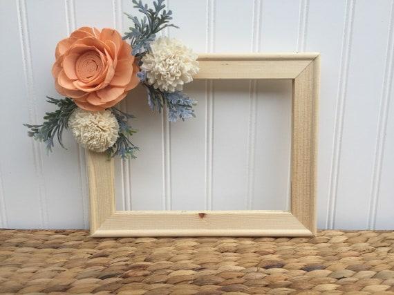 Peaches \'n Cream Repurposed Frame Wall Art Sola Wood | Etsy