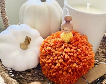 Pumpkin Pom Pom Sugar Plum Fairy