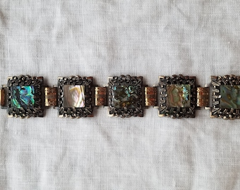 Vintage abalone shell bracelet