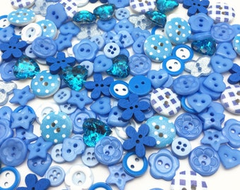 FOR CRAFTS 20 CHOOSE 10 BLUE /& WHITE PRINTED MOROCCAN THEMED WOODEN BUTTONS