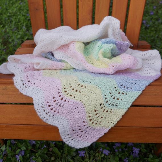 Häkeln Sie Decke Häkeln Sie Babydecke Regenbogen | Etsy