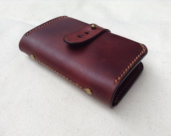 Card Book / Card Organizer / Leather Business Card Cover / Leather Card Book / Personalized  Leather Card Holders
