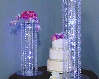 Timeless Acrylic Crystal Dangle Event & Wedding Centerpiece