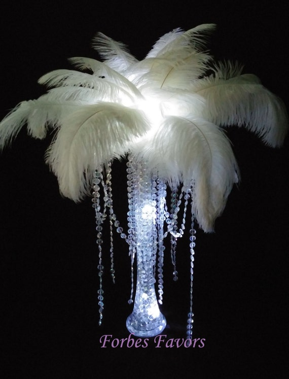 Set of diy charming ostrich feather centerpiece with etsy