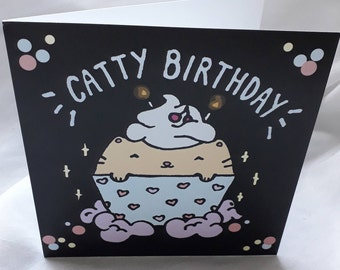 Catty Birthday Card