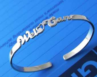 Sterling 925 Silver Name Bracelet Anklet - Any Name Can Be Made