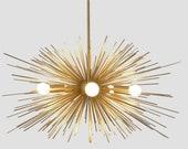 Mid Century Modern Starburst Ava Chandelier Sputnik Ceiling Lamp Light