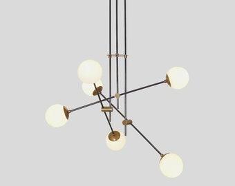 Modern Handmade  EQUIPOISE Ceiling Pendant Light Lamp , Modern Statement Globe Chandelier , Handmade Brass Light Fixture