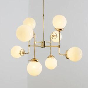 Bistro Globe Clear Glass 8 Light Chandelier