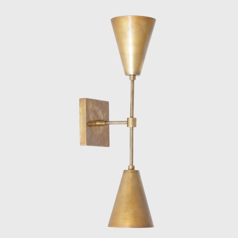 innovative design 6f16d 817b6 Modern Aerin Double Cone Wall Sconce Brass Wall Lamp Light