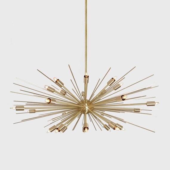 Stunning Large Mid Century Modern Spurchin Chandelier Sputnik Ceiling Lamp Light 38 Diam