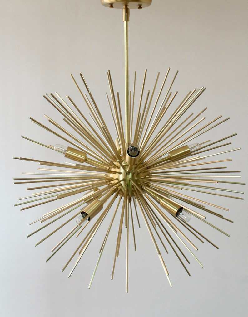 Modernist starburst chandelier ceiling lamp pendant light