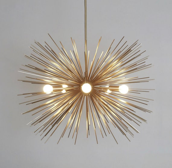 info for e0513 e9722 Mid Century Modern Starburst Chandelier Sputnik Ceiling Lamp Light