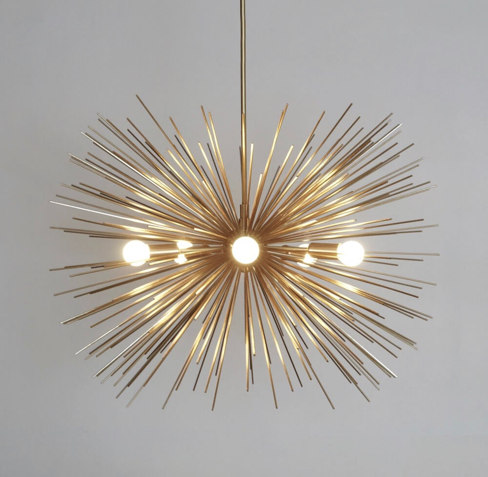 Mid century modern starburst chandelier sputnik ceiling lamp light