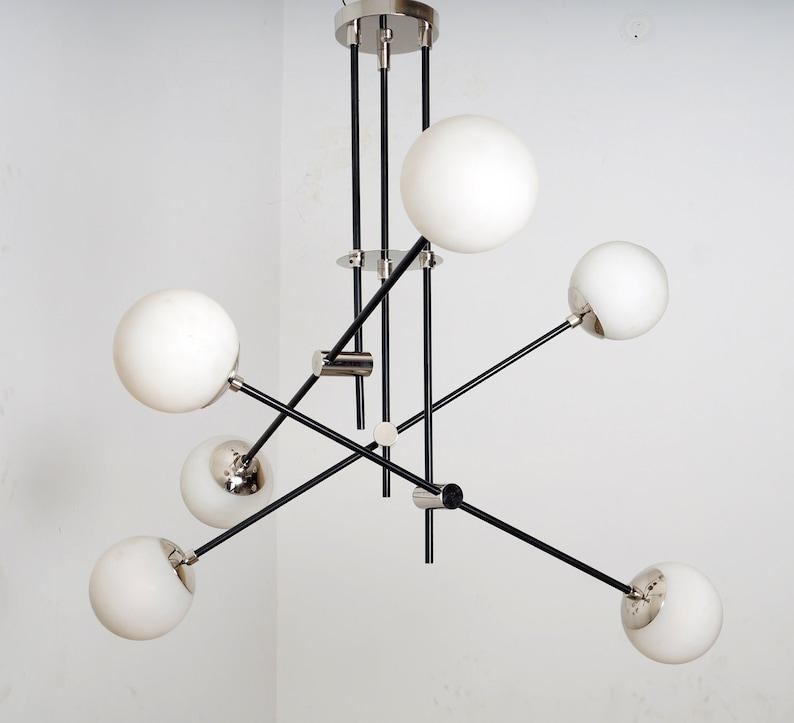 Contemporary Equipoise Ceiling Pendant Light Modern Ceiling Glass Globe  Light