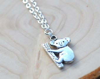 Koala necklace, koala bear gifts, koala jewellery, koala accessories, Australia gifts, koala bear, animal lover gifts