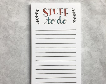 Notepad - Stuff To Do