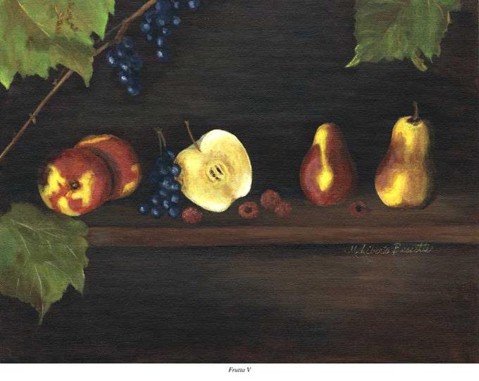 "Free Ship: ""Frutta V"", Archival Giclee Print of Acrylic Painting"