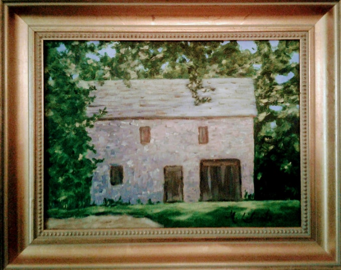 """Historic """"Stone Stable, Cir1812"""", Wilson Warner House, Odessa,Delaware, Offered by Artist"""