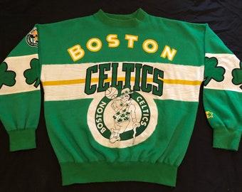Vintage Unisex All Over Print Boston Celtics Starter Sweatshirt NBA  Basketball Sz  Medium 1373334e5