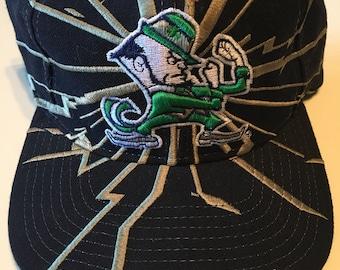 47d0824f65824 Vintage NCAA Starter Shockwave Earthquake Notre Dame Snapback Hat Cap