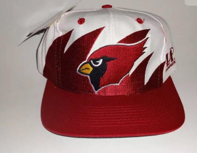 0de3dee63 Vintage 90s NOS LA Logo Athletic Pro Line Arizona Cardinals NFL Football  Shark Tooth Snapback Hat Cap Deadstock