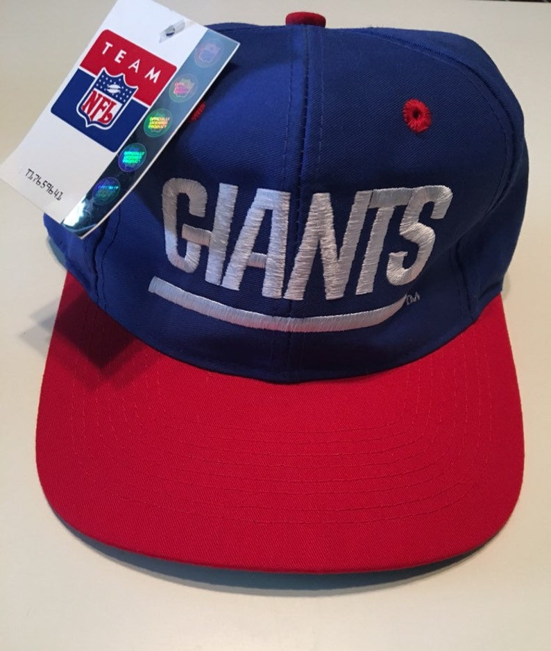 70f062e8 New Vintage New York Giants NFL Football Logo Athletic 7 Snapback Hat Cap  Deadstock